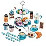 CAREMiLLE Kinder-Tee-Set für kleine Mädchen zum Spielen Dessert- und Spielzeug-Kaffeebereiter-Set Alter 3 4 5 6 7 8 Indoor-Outdoor-Spielzeug-Tee-Set, Simulations-Kaffee-Snack-Spielzeug