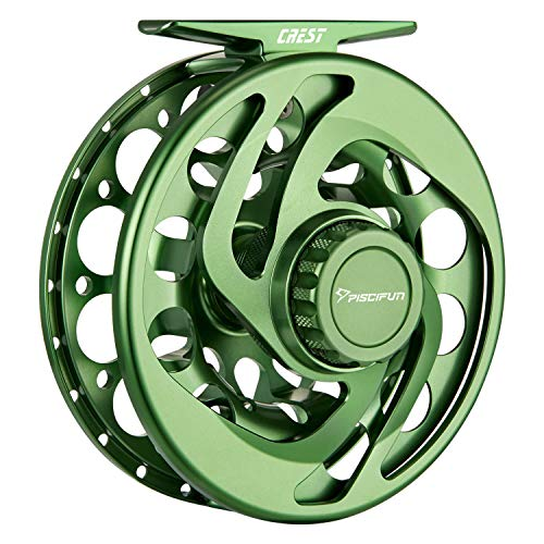 Piscifun Crest Fully Sealed Drag Large Arbor Fly Fishing Reel Saltwater CNC-machined Aluminum Alloy Fly Reel 9/10 Green