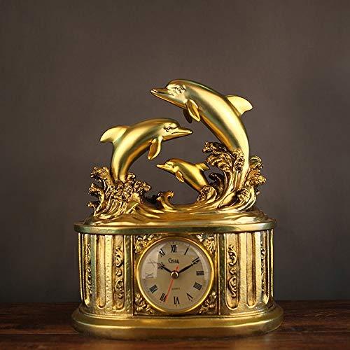 XFSE Reloj de Alarma Tienda De Relojes Creativos for El Hogar Relojes De Resina De Delfines Prácticas De Estudio De Estudio Decoración Suave Adornos Al por Mayor