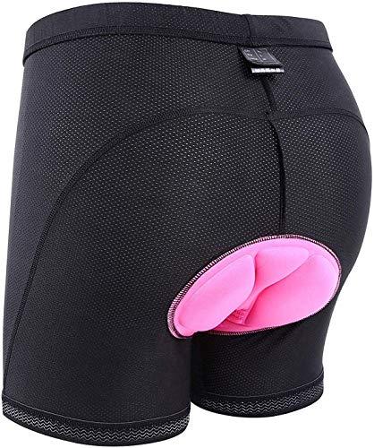 Sportneer Pantalones Cortos de Ciclismo para Mujeres Pantalones Cortos Acolchados para Mujeres y niñas, para la práctica del Ciclismo, M - XXXL (L)