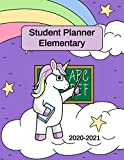 Student Planner Elementary: Unicorn Diary for Kids to Stay Organized at Home and School with Unicorn Pictures to Color (Unicorn Activity Books)