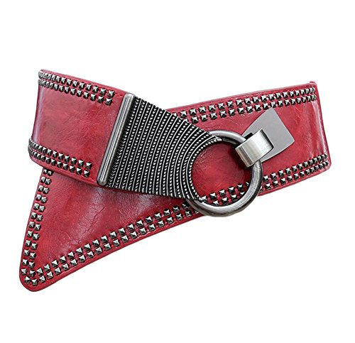 Oyccen Mujeres Punk Remache Cinturón Elástico Cinturones Damas Pretina Vestido Decoración