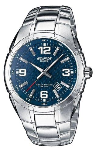 Casio Edifice Herrenarmbanduhr EF-125D-2AVEF, blau, massives Edelstahlgehäuse und Armband, 10 BAR