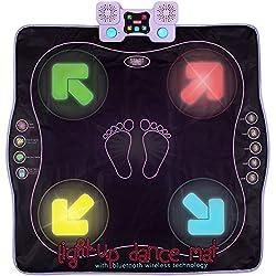 commercial Dance Mat Kidzlane – Children's Dance Games for Boys and Girls – Illuminated Dance Floor or… girls play wii