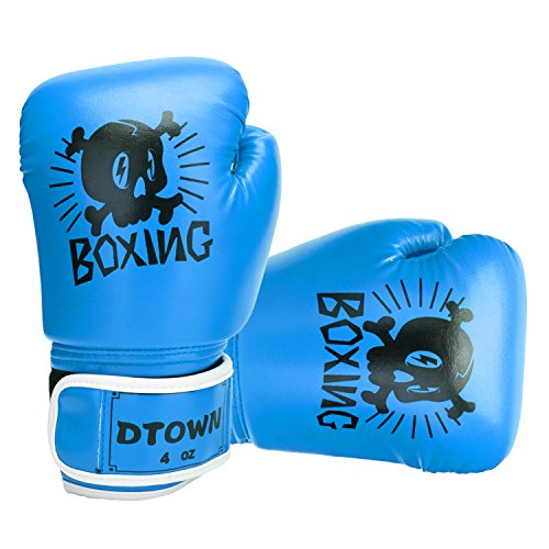 Dtown Kids Boxing Gloves 4oz 6oz Youth Boxing Gloves for Age 3 to 7 Years, Boys and Girls Training Boxing Gloves for Punching Bag, Kickboxing, Muay Thai, MMA