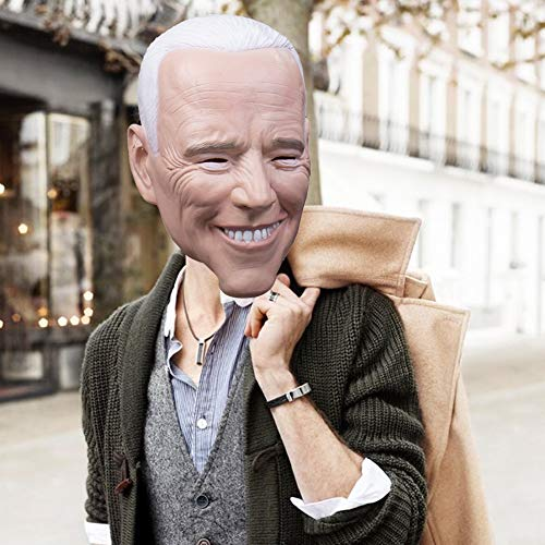 sakulala Joe Biden Cara Presidente Escudo campaa Electoral de Votar por el Partido de Halloween Cosplay Masque Complementos Disfraz