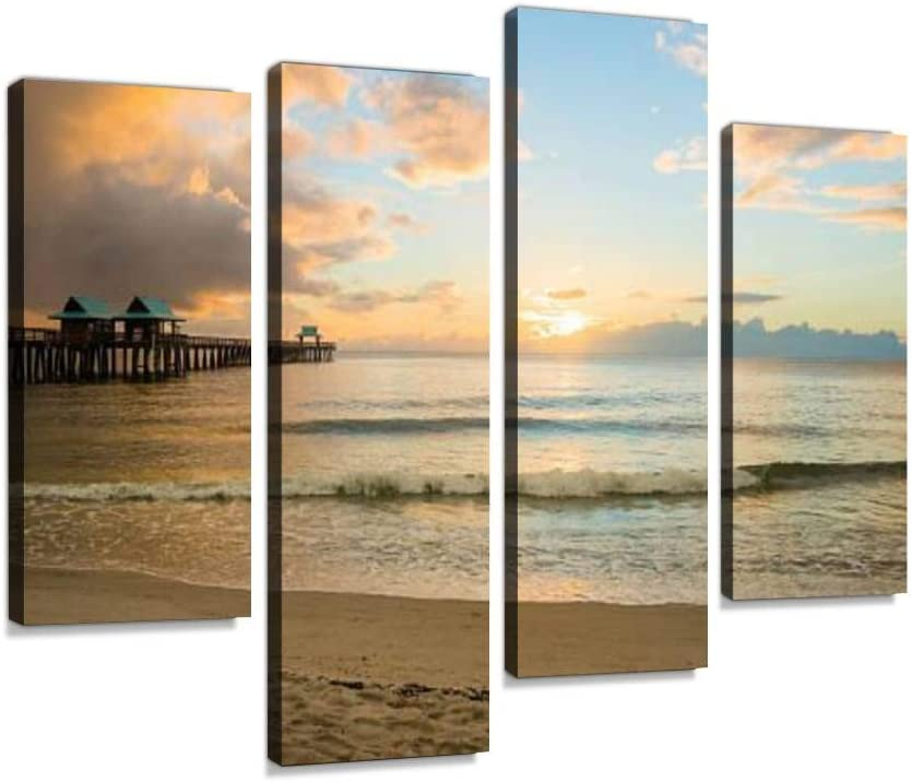 Sunset in Naples Florida Canvas free shipping Inventory cleanup selling sale Wall Paintings Mode Art Hanging