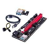 Nobranded Extensión gráfica PCI-E 1x a 16x para minería GPU Tarjeta adaptadora alimentada por Elevador USB, Estable y Segura- Cable USB Negro