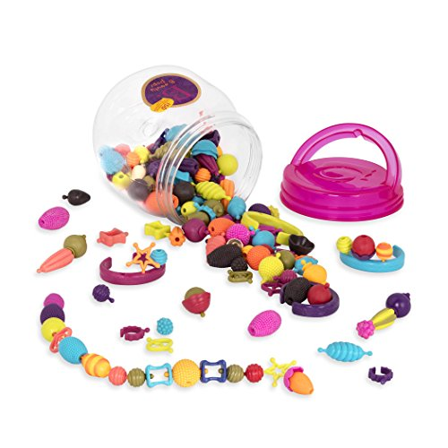 B. Toys – 150 Pcs – Pop Snap Bead Jewelry Set for Kids – Pop Arty! – DIY Craft Jewelry Making Kit – Creative Necklaces, Rings, Bracelets – 4 Years +