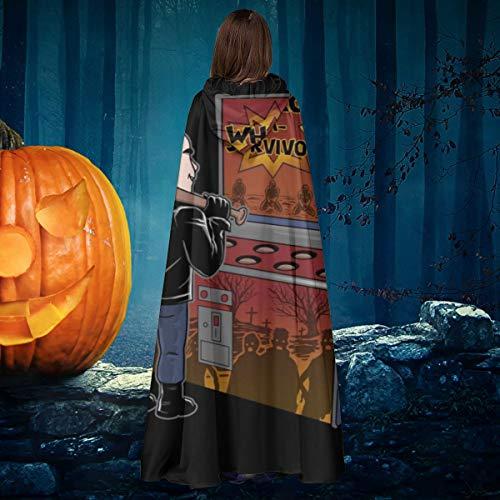 AISFGBJ Walking Dead Negan Whack A Survivor - Disfraz de Bruja con Capucha para Halloween