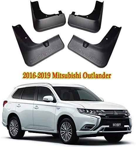 Lxzy 4 Stück Auto Schmutzfänger für Mitsubishi Outlander 2016-2019, Vorne Hinten Mud Flaps Gummi-Spritzschutz Set mit Schrauben Vollrad Kotflügelschutz Radschützer Zubehör
