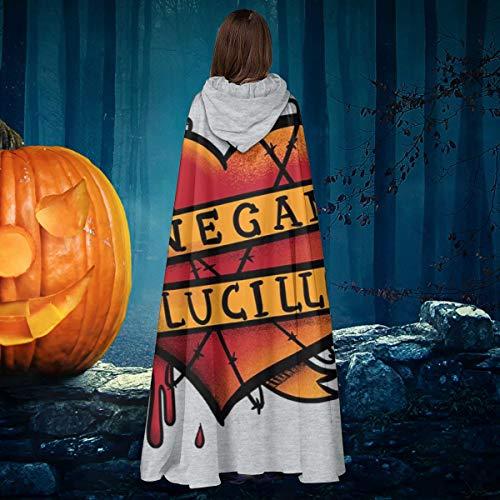 NULLYTG Bloody Love Walking Dead Negan Lucille Unisex Navidad Halloween Bruja Caballo con capucha Vampiros Capa Cosplay Disfraz
