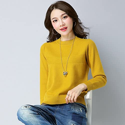Xuanku Chemise à Manches Longues en Maille Lache Kit Femme Pull Sauvage Et Une Chemise à Manches Longues Tricotéem,voitureamel