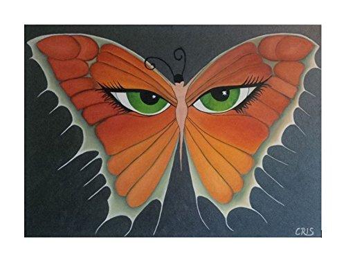 Schmetterling Wandbild Ölbild Augenblick Flügelschlag
