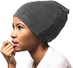 ADAMA Satin Lined Jersey Beanie, Gray