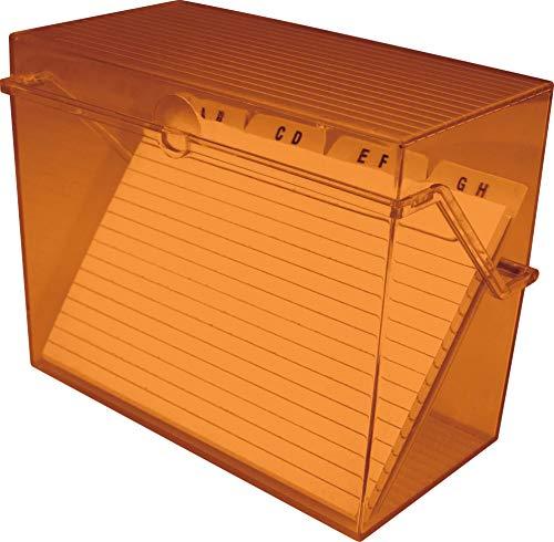 Helit - Tarjetero pequeño A8, color naranja transparente