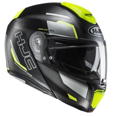 HJC Motorradhelm RPHA 90 Robrigo MC4HSF, Schwarz/Gelb, Größe M