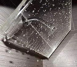 Chuveiro grande premium da Clear Shower XL – Modelo transparente, quadrado de pressão firme de 45 cm, cabeça de chuveiro a...