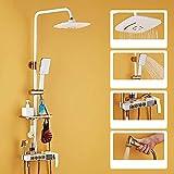 HYY-AA Rotatif de levage Douche Set, LED d'affichage numérique Set Valve de douche avec baignoire et bec Pistolet robinet de douche à haute température peinture noire