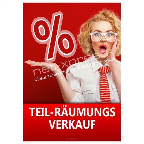 Teil-Räumungsverkaufs-Plakat A1 Cartel de Publicidad Cartel Cartel Ventas de Liquidación