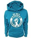 Artdiktat Damen Hoodie Auf geht´s Bochum kämpfen und Siegen, Größe XL, blau