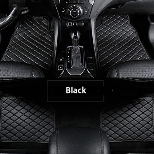 Maibenbao Alfombras de Coche para Volvo C30 C70 S40 S60 S80 S90 V40 V50 V60 XC40 XC60 XC70 XC90 Alfombrilla para Coche de Cuero Antideslizante Impermeable (Negro,Juego de 4 Piezas)