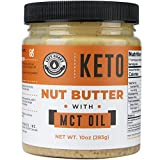 Keto Nut Butter Fat Bomb [Crunchy] - 10 Oz - Macadamia Low Carb Nut Butter Blend (1 net carb), Keto Almond Butter with MCT Oil, Left Coast Performance