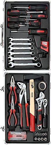 Werkzeugkoffer Werkzeug Koffer bestückt 51 Teile - Aluminium 39 x 29 x 11 cm - 2