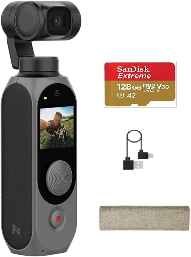 Xiaomi FIMI Palm 2 Gimbal Camera 128° UHD Max 83% OFF Milwaukee Mall 4K L Angle Ultra Wide