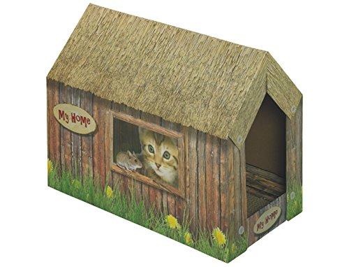Nobby Katzenhaus aus Karton  49 x 26 x 36 cm