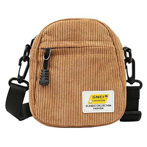 ARR Schoudertas Kleine Corduroy Doek Messenger Bag Voor Sleutels Telefoon Roze Crossbody Tassen Leuke Rits portemonnee Voor Meisjes