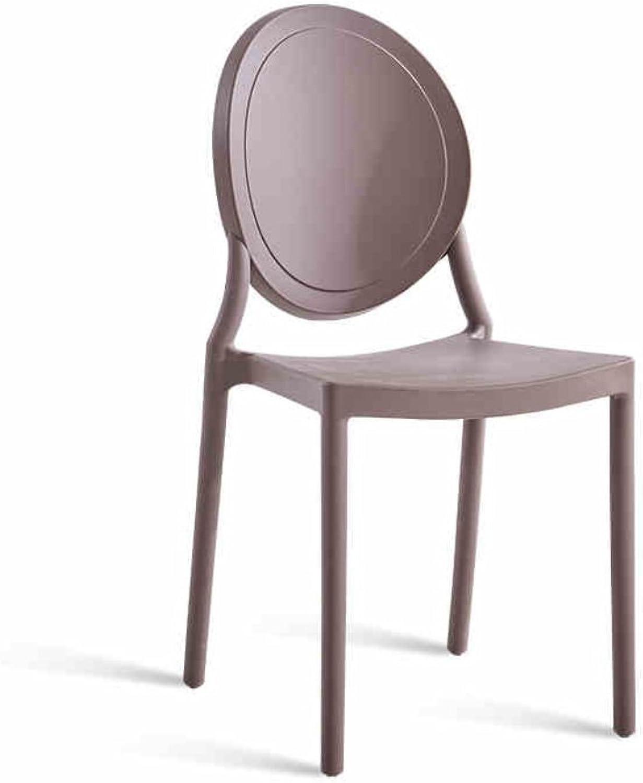 Modern Simple Chair, American Retro Plastic Chair, Nordic Leisure Creative Chair (color   Purple)