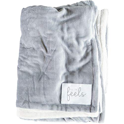 All the Feels Premium Reversible Blanket, Twin, 66x88, Ash Grey Blanket, Super Soft Cozy Blanket