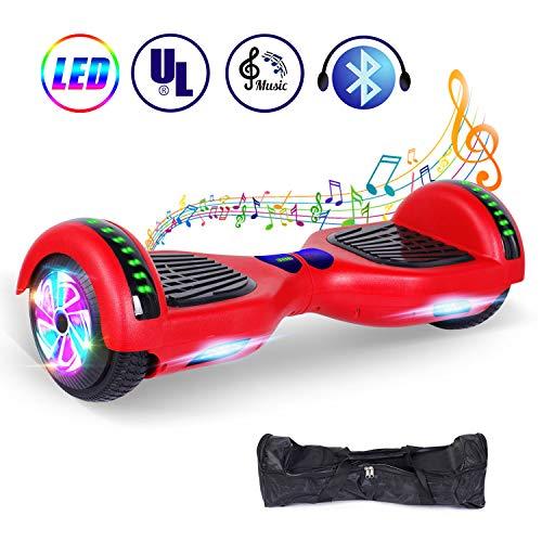 """jolege Hoverboard Monopattino Elettrico Bambino, Bluetooth 2 * 300W Motore, 6.5"""" Self Balance Scooter Elettrico con, Borsa Gratuita, UL Certificazione"""