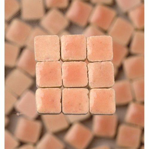 MosaicMicros 5 x 5 x 3 mm, 10 g, Confezione da 100 Pezzi, in Ceramica Smaltata, Mini mattonelle a Mosaico, Colore: Rosa Chiaro