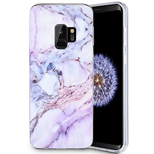 Caka Galaxy S9 Case, Galaxy S9 Marble Case Slim Anti Scratch Shockproof Luxury Fashion Silicone Soft Rubber TPU Protective Case for Samsung Galaxy S9 (Pink)