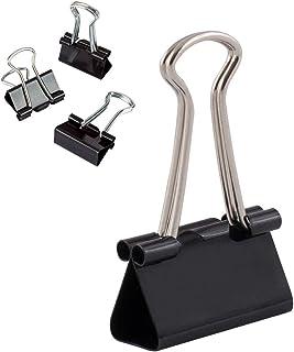 D.RECT Lot de 12 Pinces à documents 25 mm | Boîte de Pinces à papier multi-fonctions | Noir