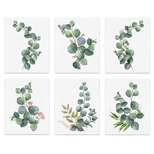 bestdeal depot Wall Art Posters Botanical Canvas Poster Home Decoration for Bathroom, Bedroom, Office Unframed Set of 6, 8x10 inches