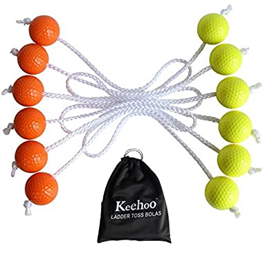 Keehoo Real Golf Balls(6 Pack) for Ladder Toss Game