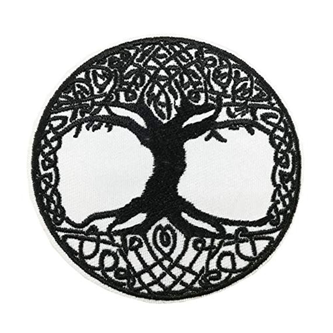 Viking Decor Yggdrasil Tree of Life in Norse Embroidered Iron on sew on Patch Applique