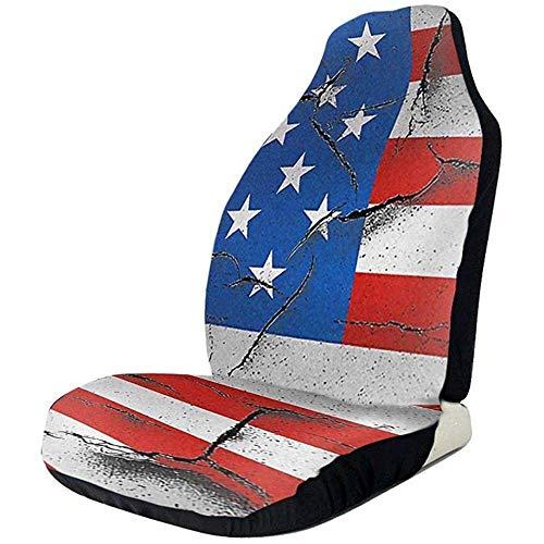 Autostoelhoezen, Usa papier vlag vooraan autostoelhoezen Set Fit volledige set stoelbeschermers compatibel voor auto's Suv Lkw