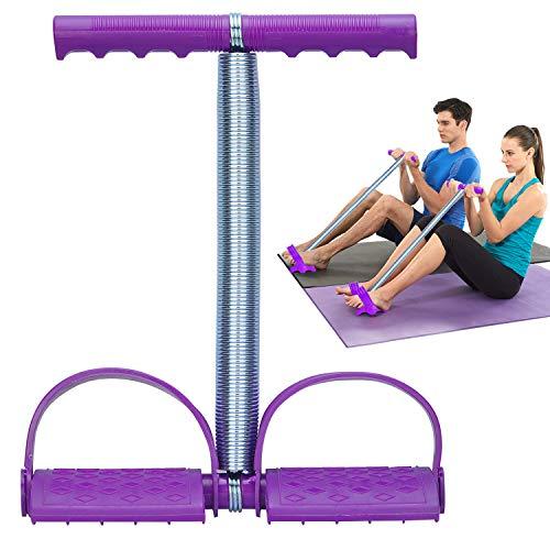 Podazz Home Fitness Bauchtrainer, elastisches Sit-Up-Seil, Federspannung, Fußpedal, Bauchtrainer, Bauchtrainer, Ausrüstung für Bauch, Taille, L, Violett