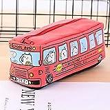 Moent Étudiants Enfants Chats Autobus Scolaire étui à Crayons Sac Bureau Papeterie Sac Livraison Gratuite, Creative Voiture étui à Crayons