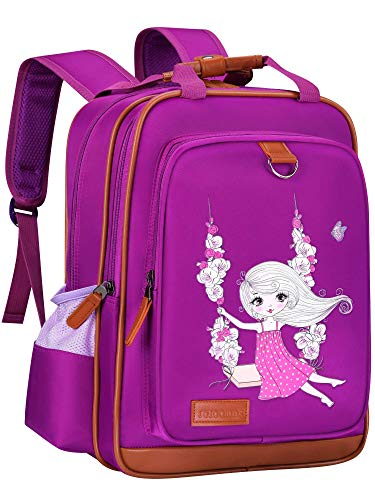 Backpack for Kids Galaxy 15' | Durable and Functional School Book Bag Perfect for Kindergarten or Elementary (Girl on Swing)