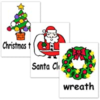 英語カード.com フラッシュカード (幼児) えらべる英語カード [クリスマス] B5サイズ タテ形 文字入り