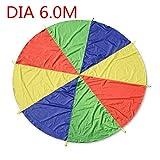 BAINA Play Tents Kids Game Paracaidas Infantil Grande Juegue Parachute Multicolored Play Tent con 8-12 Manijas para niños Play Games Indoor Outdoor Activit (6.0M)