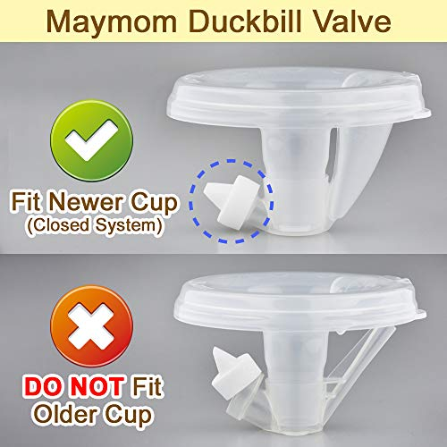 Maymom Valve for Freemie Closed System Cups. Replaces Freemie Duckbills or Freemie Valves in Freemie Liberty Mobile. 4 pc White, Not for Open System Freemie Cup; Not Freemie Original Accessories