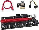 Newest Version USB Riser V009S ALB Vendor PCIE Riser 6 PIN + MOLEX GPU Mining ETH Single