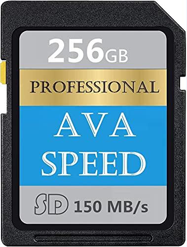 Tarjeta de memoria SD profesional de 256 GB, clase 10, SDXC de alta velocidad hasta 150 MB/s para cámaras réflex digitales, cámaras HD y cámaras 3D (256 GB)