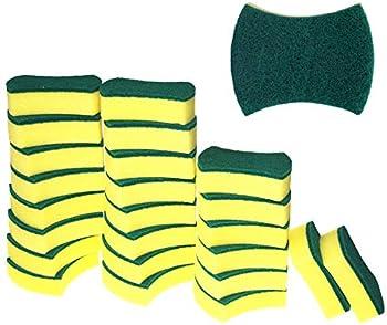 24-Pack Kitchen Eco Non-Scratch Scrub Sponges